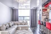 Фото 3 Натяжные потолки для зала (62 фото): выбор материала и стиля