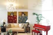 Фото 18 Натяжные потолки для зала (62 фото): выбор материала и стиля
