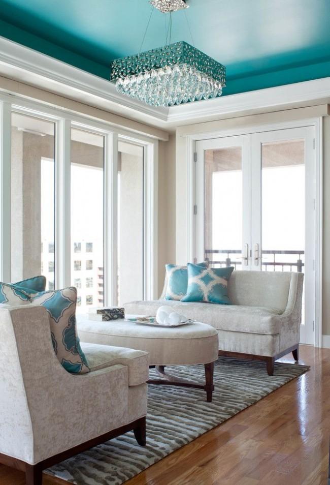 Перед покраской водоэмульсионной краской потолок нужно подготовить