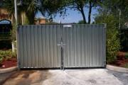 Фото 8 Ворота и калитки из профнастила (51 фото) — простой и доступный способ защиты участка