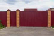 Фото 5 Ворота и калитки из профнастила (51 фото) — простой и доступный способ защиты участка