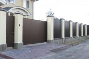 Фото 13 Ворота и калитки из профнастила (51 фото) — простой и доступный способ защиты участка