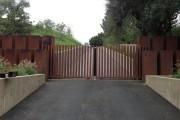 Фото 18 Ворота откатные своими руками (57 фото): виды, особенности устройства и монтажа