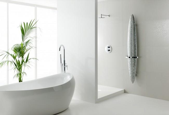 Алюминиевые радиаторы отопления. Дизайнерский радиатор и полотенцесушитель 2 в 1, с декоративной шлифованной поверхностью