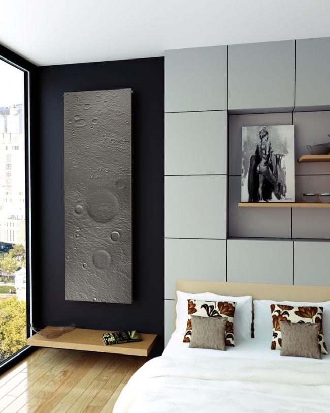 """Алюминиевые радиаторы отопления. Дизайнерский радиатор отопления """"Луна"""" из анодированного алюминия"""