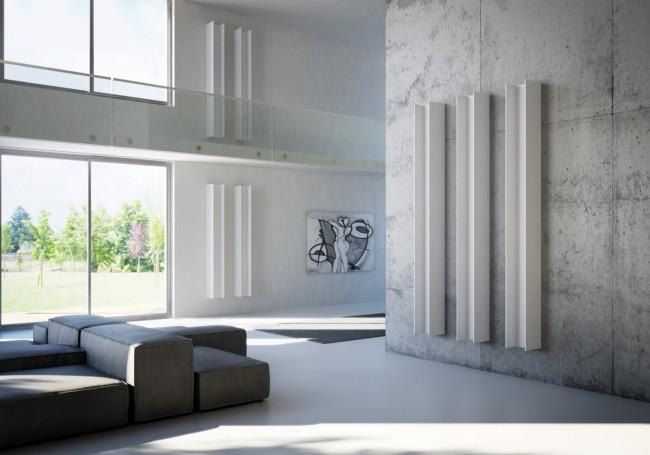 Алюминиевые радиаторы отопления. Необычные дизайнерские радиаторы отопления, в виде двутавров - идеальный вариант для индустриального дизайна жилья