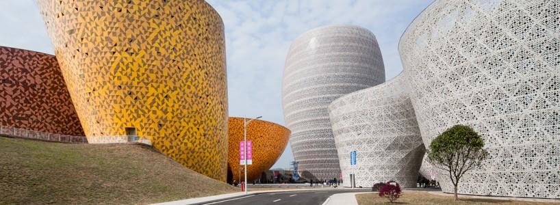 Оригинальный керамический музей в виде вазы
