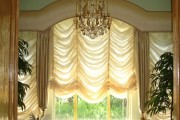 Фото 2 Французские шторы (45 фото): королевская роскошь в каждой складке