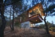 Фото 1 Стильный дом в диком лесу от Seung h-sang