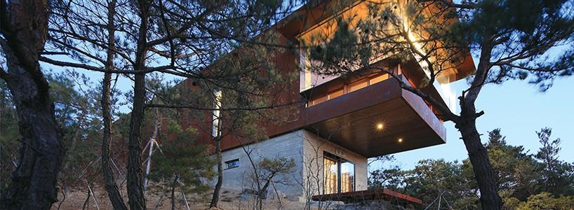 Стильный дом в диком лесу от Seung h-sang
