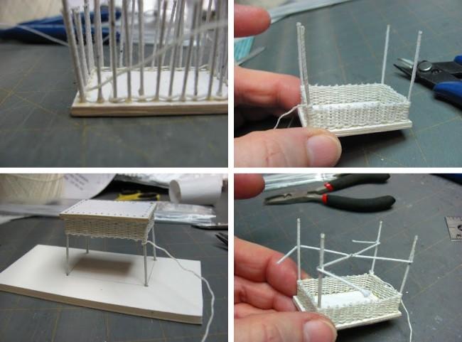 Мебель для кукол своими руками. Как сделать плетеный из бумажных трубочек столик с мозаичной столешницей: пошаговое руководство.