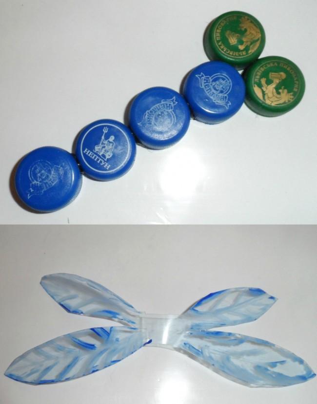 Как сделать стрекозу из пластиковых бутылок своими руками инструкция