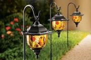 Фото 4 Садовый уличный светильник на солнечных батареях (50 фото): волшебство для вашего сада