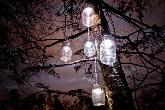 Светильник на солнечных батареях садовый уличный. Садовые светильники-банки с солнечными батареями в крышке создают таинственную сказочную атмосферу по вечерам. Мерцающие светодиодные гирлянды внутри них напоминают светлячков