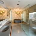 Влагозащищенные светильники для ванной комнаты (50 фото): виды и правила выбора фото