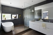 Фото 19 Влагозащищенные светильники для ванной комнаты: обзор стильных моделей, правила выбора и специфика монтажа