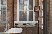 Фото 6 Влагозащищенные светильники для ванной комнаты: обзор стильных моделей, правила выбора и специфика монтажа