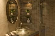 Фото 13 Влагозащищенные светильники для ванной комнаты: обзор стильных моделей, правила выбора и специфика монтажа