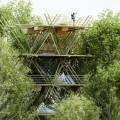 Уютный отель из бамбуковых панелей фото