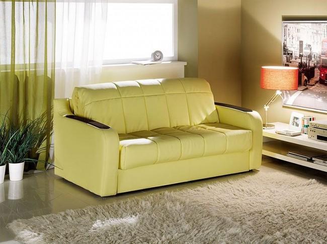 Заметным плюсом дивана аккордеона является то, что его можно без ущерба поставить вплотную к стене