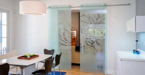 Стеклянные межкомнатные двери (60 фото): стильное решение интерьера фото