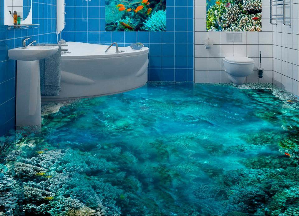 Наливные полы для ванной