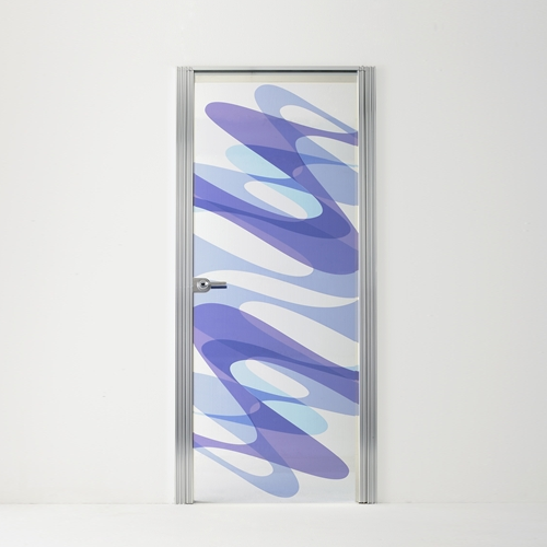 Распашная стеклянная межкомнатная дверь с рамой выполненной из алюминия