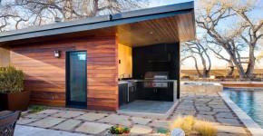 Проекты бань с террасой и барбекю (28 фото): зона отдыха 3 в 1 фото