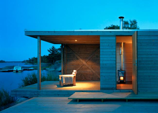 Терраса может также стать местом для приятного уединенного отдыха