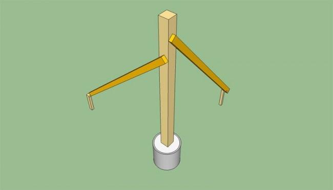 Вертикальное выравнивание стойки