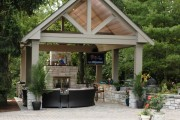 Фото 5 Беседки с печкой, мангалом или барбекю (50 фото) — отличное место для приятного отдыха