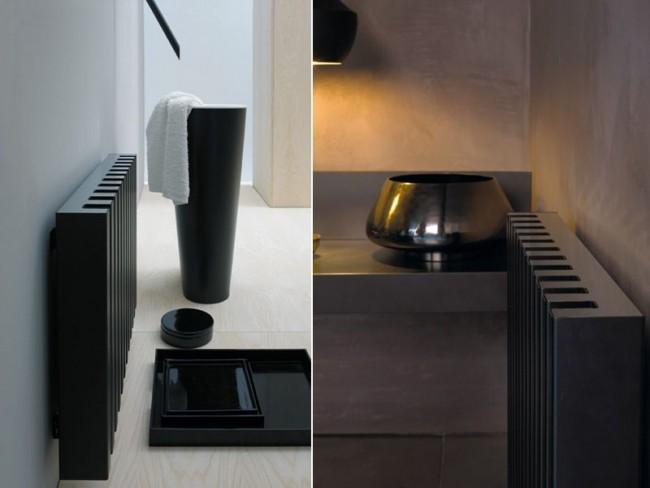 Интересный дизайн-радиатор черного цвета