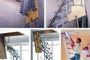 Фото 9 Чердачная лестница с люком — модный помощник в доме