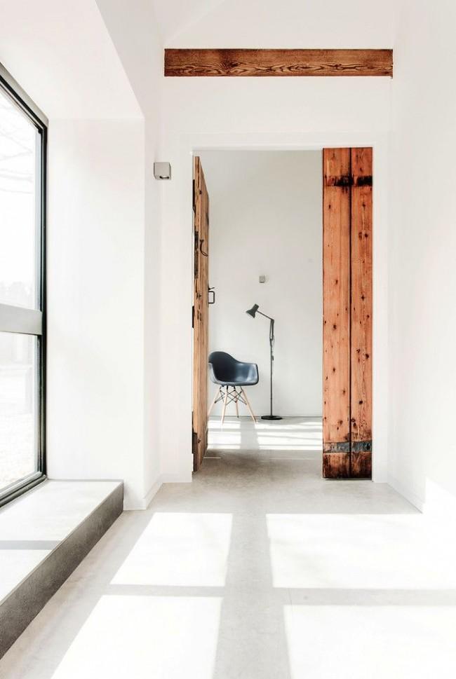 Деревянная межкомнатная дверь в стиле лофт