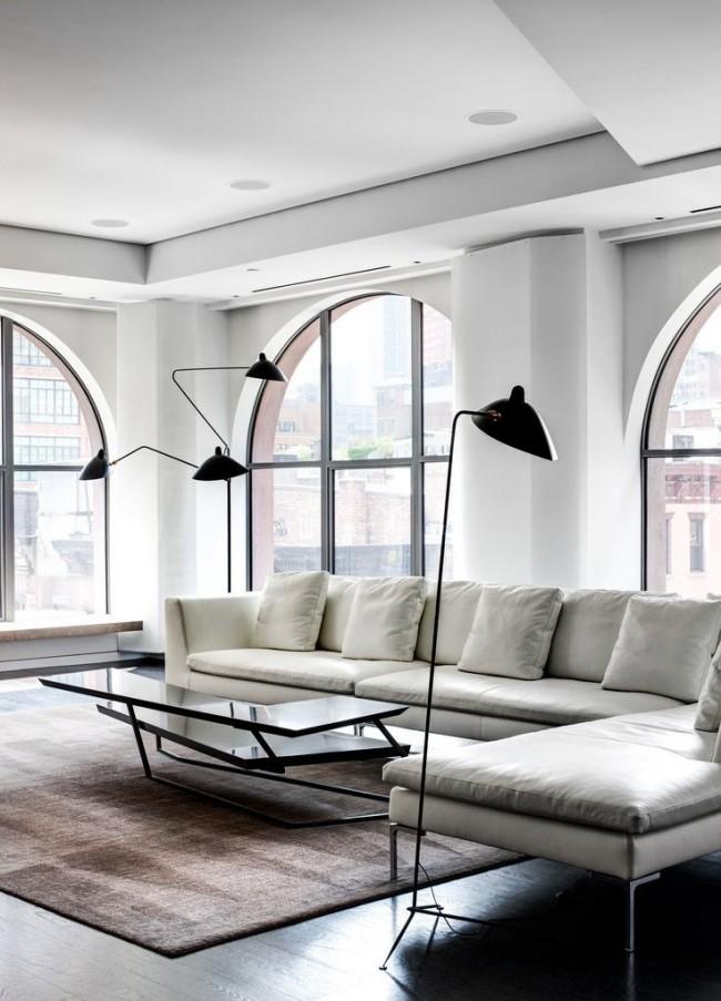 Белый цвет в интерьере сделает комнату просторнее