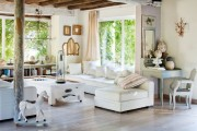 Фото 29 Дизайн интерьера гостиной в стиле прованса (100+ безупречных фотоидей): создаем уютную сказку у себя дома!