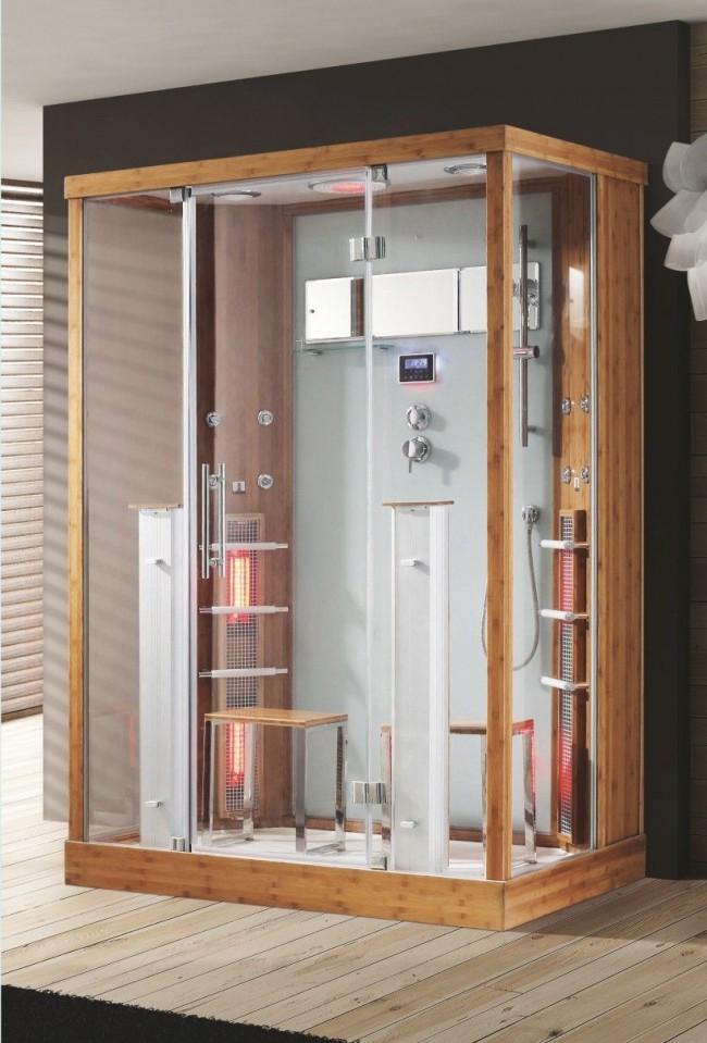 Кабина с душем и инфракрасными нагревателями - очень удобный вариант