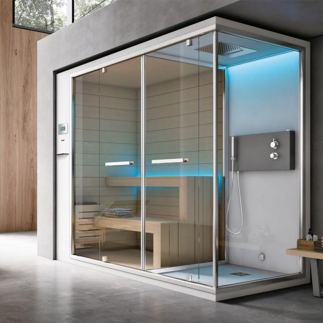Комбинированная сауна совмещает в себе инфракрасные и конвекционные нагреватели одновременно