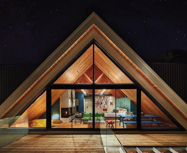Каркасный дом треугольной формы подчеркнет чувство вашего стиля