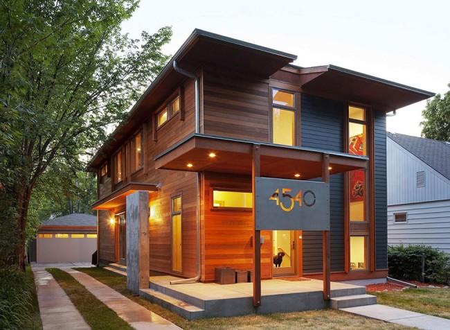 Каркасный дом может быть и стильным и в тоже время недорогим