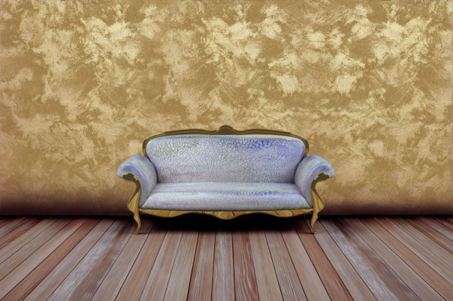 Благородная бронза украсит стены гостиной