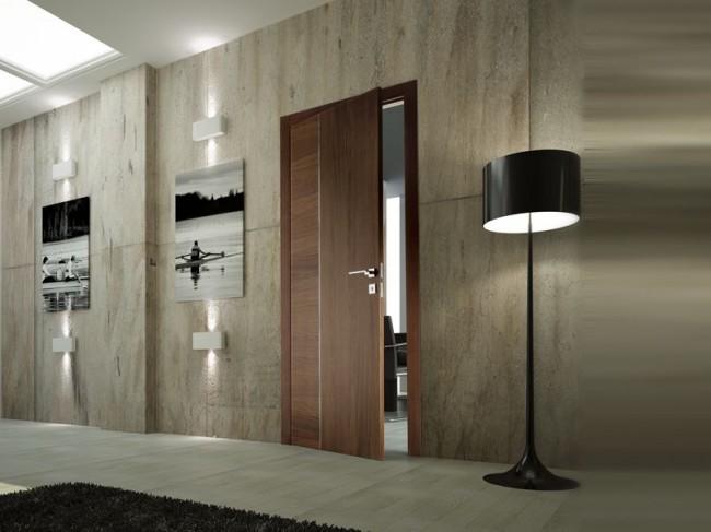 Шпонированные двери смотрятся очень красиво