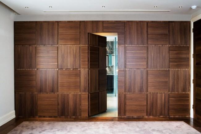 Скрытая шпонированная межкомнатная дверь