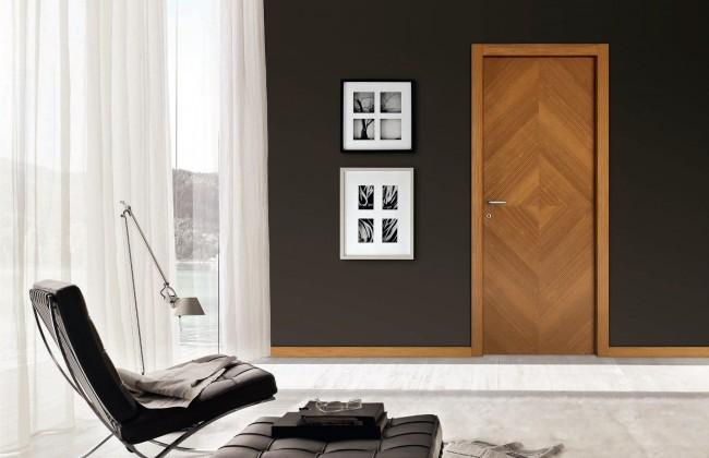Дверь из шпона имеет красивый вид и экологически безопасна