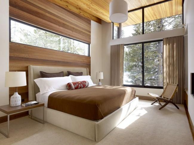 Спальня в стиле модерн с пластиковыми окнами
