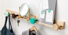 Настенная вешалка для одежды в прихожую: материалы, конструкции,  дизайн фото