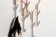 Фото 27 Настенная вешалка для одежды в прихожую: материалы, конструкции,  дизайн