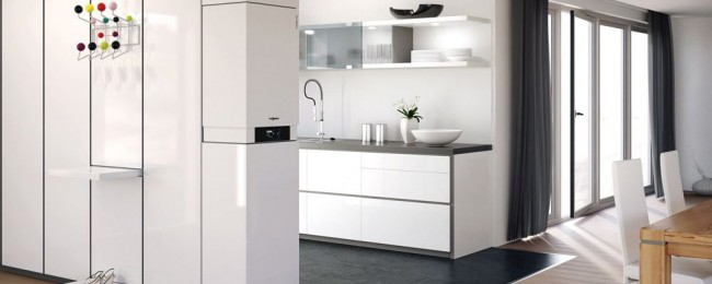 Встроенный в кухонную мебель котел - незаметный незаменимый помощник