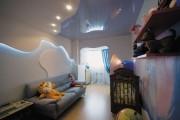 Фото 11 Натяжные потолки в детской комнате (63 фото): виды и особенности выбора