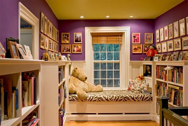 Солнечный желтый потолок наполнит комнату теплом и простимулирует к активности